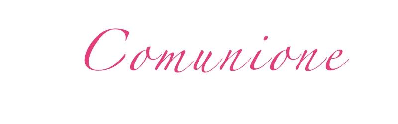 Scritta Comunione